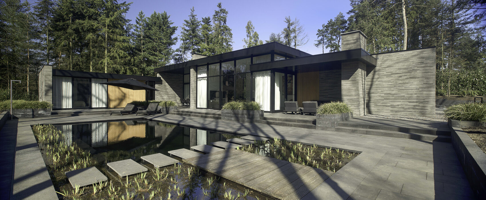 Moderne bosvilla